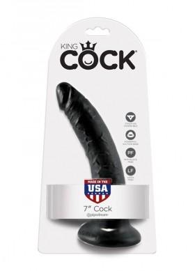 fallo realistico nero 7 king cock 18 cm